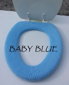 Bathroom Toilet Seat Warmer (Cover) Baby Blue