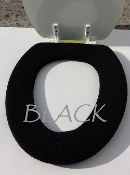 Bathroom Toilet Seat Warmer (Cover) Black