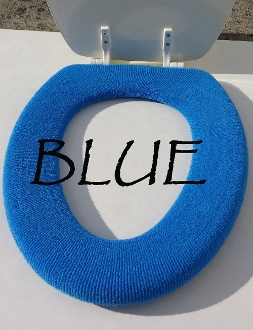 Bathroom Toilet Seat Warmer (Cover) Blue
