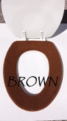 Bathroom Toilet Seat Warmer (Cover) Brown