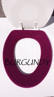 Bathroom Toilet Seat Warmer (Cover) Burgundy