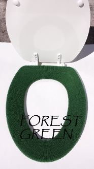 Bathroom Toilet Seat Warmer (Cover) Forest Green