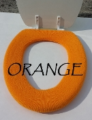 Bathroom Toilet Seat Warmer (Cover) Orange