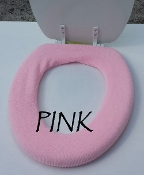 Bathroom Toilet Seat Warmer (Cover) Pink