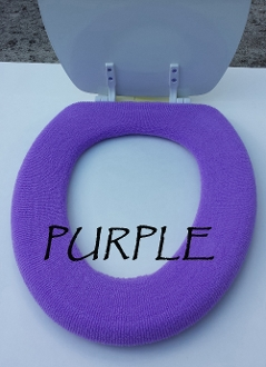 Bathroom Toilet Seat Warmer (Cover) Purple