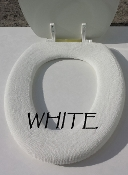 Bathroom Toilet Seat Warmer (Cover) White